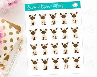 Siamese Cat Pet Planner Stickers