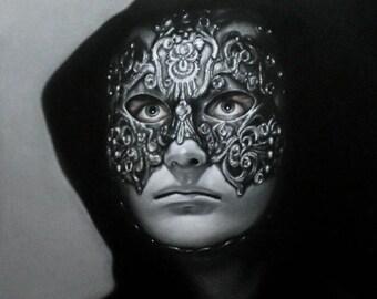 "Dr.Bill Eyes Wide Shut Original Charcoal Portrait Drawing 14"" x 18"""