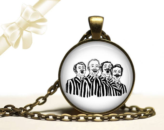 Barbershop Quartet brass Pendant Necklace Free Shipping Gifts for her