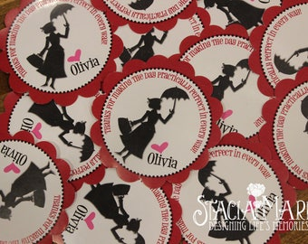 Mary Poppins Birthday Thank You Stickers