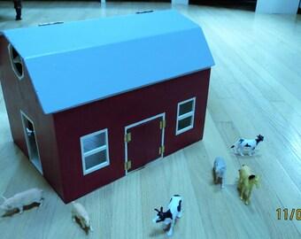 Small Wooden Barn or Farm House