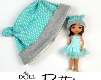 Doll Hat Pattern PDF Tutorial Earbits style Hats for Dolls of all sizes - Amelia Thimble Lati Yellow Blythe Pukifee American Girl