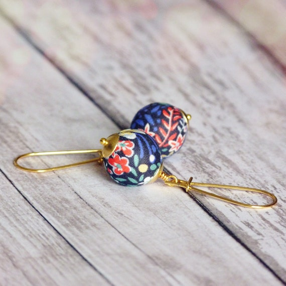 Liberty earrings, Cute earrings, Colorful earrings, Multicolor earrings, Flower earrings, Liberty jewelry, Spring trends, Gift for her