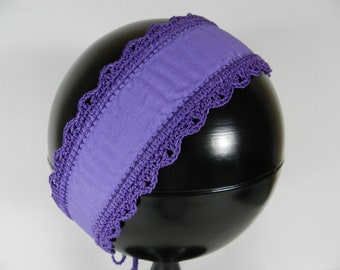 Purple Crochet Headband