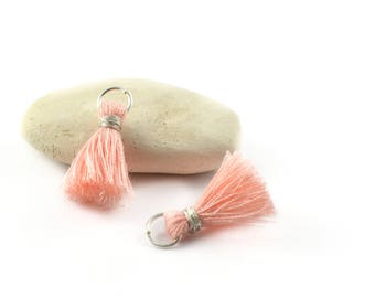 Small PomPoms 2 cm set of 2 pink powder P127-FM