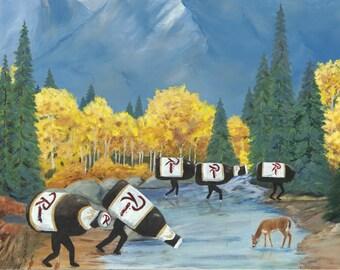 "Wild Rainiers 11""x14"" print"