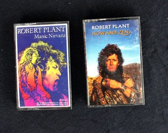 Robert Plant- 2 Albums on Cassette Tape: Now and Zen & Manic Nirvana