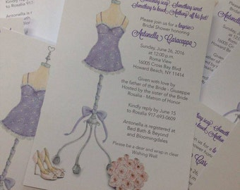 Lingerie Invitation Victorias Secret Invitation Victorias Secret Themed Victorias Secret Bridal Shower Lingerie Bridal Shower