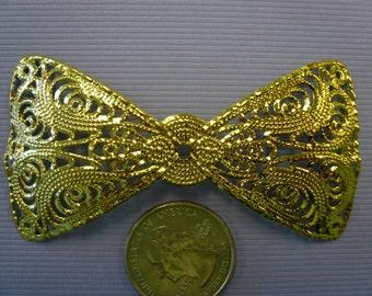 Vintage Brass Filigree Bows