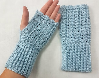 Adults Crocheted Fingerless Mitts