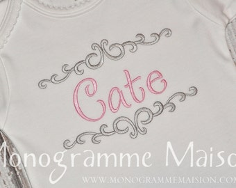 Baby Girl Coming Home Outfit - Newborn Baby Girl Outfit - Monogrammed Baby Gift - Personalized Baby - Newborn Pictures Outfit - Pima Cotton