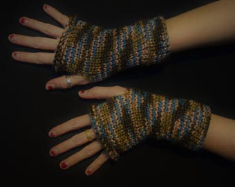 Natural Wonder Arm Shyne - Knitted Fingerless Arm Warmers - Knitted Fingerless Gloves