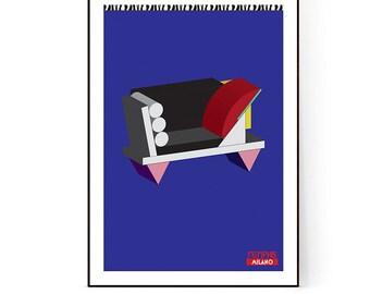 My Favorite Sofa - Memphis Milano Big Sur art print