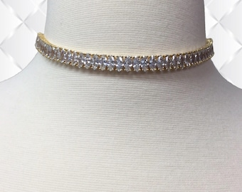 Marquise Choker | Marquise Choker Necklace | Diamond Choker Necklace | Diamond Choker | Bridal Marquise