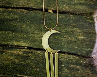 Sisters of the Moon- Nova Editon Crescent Moon Necklace in Silver or Brass
