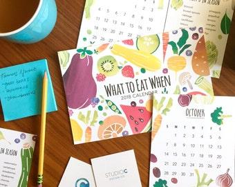 2018 Seasonal Produce Watercolor Calendar
