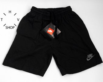 NOS Vintage Nike Air Comfort junior shorts / Kids basketball running pants / Youth black trunks / Deadstock Sports / Made in Greece 90s