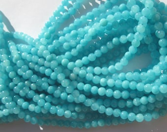 12 blue 4 mm (7) colorful agate beads