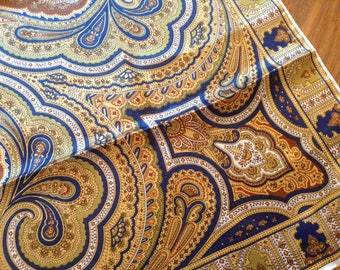 "Vintage Scarf Paisley Pattern Design, Square vintage scarf 31"" x 31"""