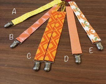 Pacifier and Toy Clips - Warm Colors