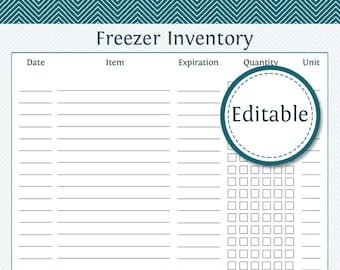 printable inventory list