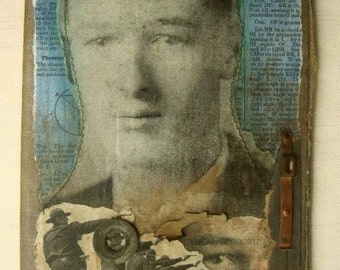 i remember you- mixed media collage- assemblage