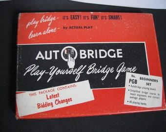 Vintage Auto Bridge Game Beginners Set