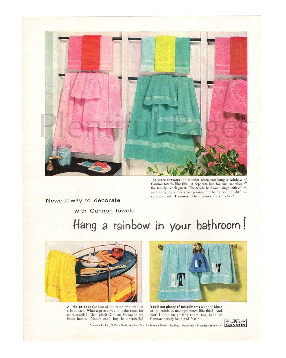 1956-Kanone Handtücher Vintage Ad 50er Dekor 1950 die