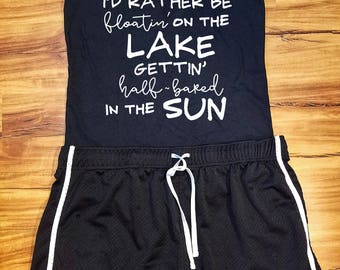 Lake Tank Top, Summer Tank Top, Fishing Tank Top, Women's Tank Top, Lake Fun Shirt, Summer Lake Clothing, Vacation Tank Top, Shirt, Clothing