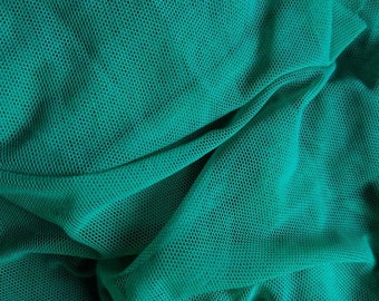 Emerald Kelly Green 4 way Stretch Mesh Fabric Yardage For Dance & Costumes