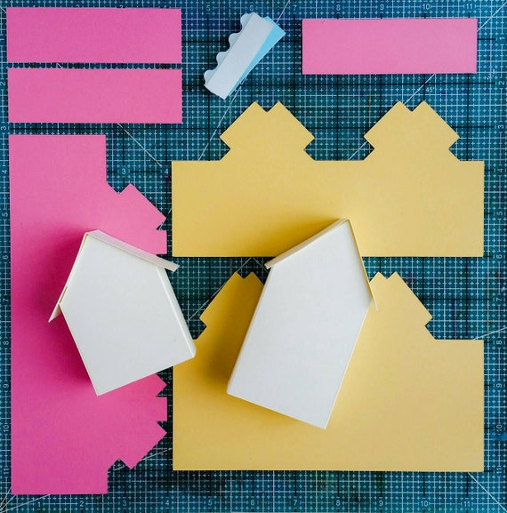 3D House SVG Cuttable File Fold-up Template Print And Fold