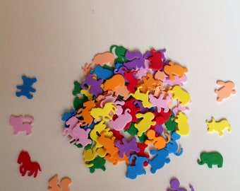 Stickers - Animal set of 80 foam stickers in assorted colors (The cutest zoo)