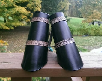 Black Leather Bracers