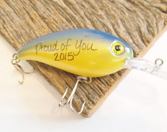 Graduation Gift for Him Graduation Gift for Guys Graduation Gift Ideas for Best Friend Proud of You Fishing Lure Proud Mom Gift to Son Grad