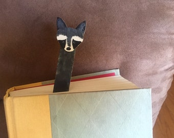 Wooden Raccoon Bookmark