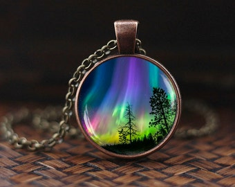Northern lights pendant, northern light Jewelry, light necklace, Aurora Borealis necklace, Aurora necklace