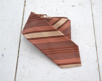 1960s Striped Skinny Necktie