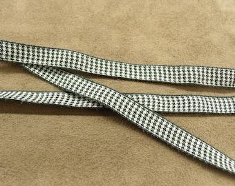 FANCY Ribbon - 1 cm-GINGHAM - black & white