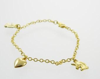 I Heart Unicorns Charm Bracelet