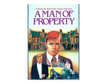 Autographs / Signed Book / Romance Novel / Historic Romance / A Man of Property / Davidyne Mayleas / Signed 1st Edition / Fiction Book