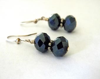 Sparkling Glass Drop Earrings