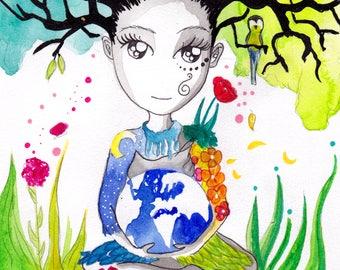 Print - Gaïa Titan, mother of earth