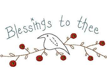 Blessings to Thee Machine Embroidery Design