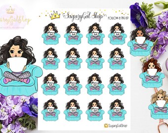 Miss Glam Lady D Custom Couch Mug Sticker Sheet