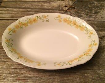 Vintage Shabby Chic Nikko bowl, Jonquil pattern