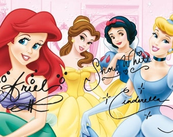 Disney Character Inspired Autographs for your Digital Scrapbooking:  Princess Ariel, The Little Mermaid