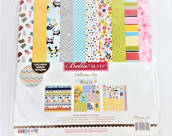 Popsicle and Panda by Bella BLVD Scrapbook Paper Kit 12x12