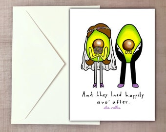 Happily Avo' After - Avocado Wedding Card