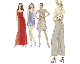 Simplicity Sewing Pattern 8635 Misses' Dress, Jumpsuit and Romper