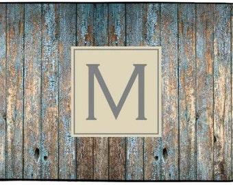 Personalized Rustic Door Mat Custom Rustic Decor Monogrammed